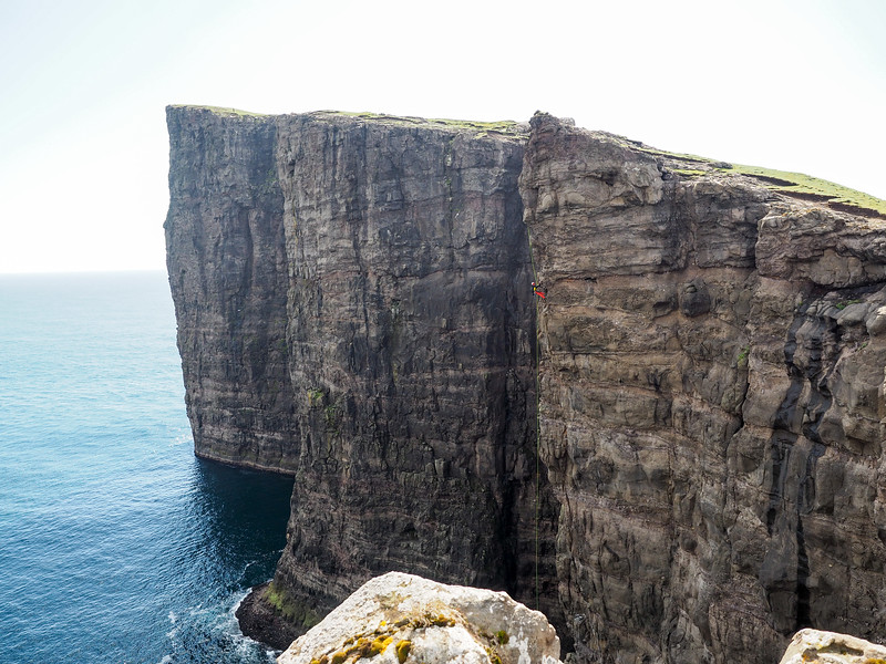 Cliffs at Trælanípa in the Faroe Islands