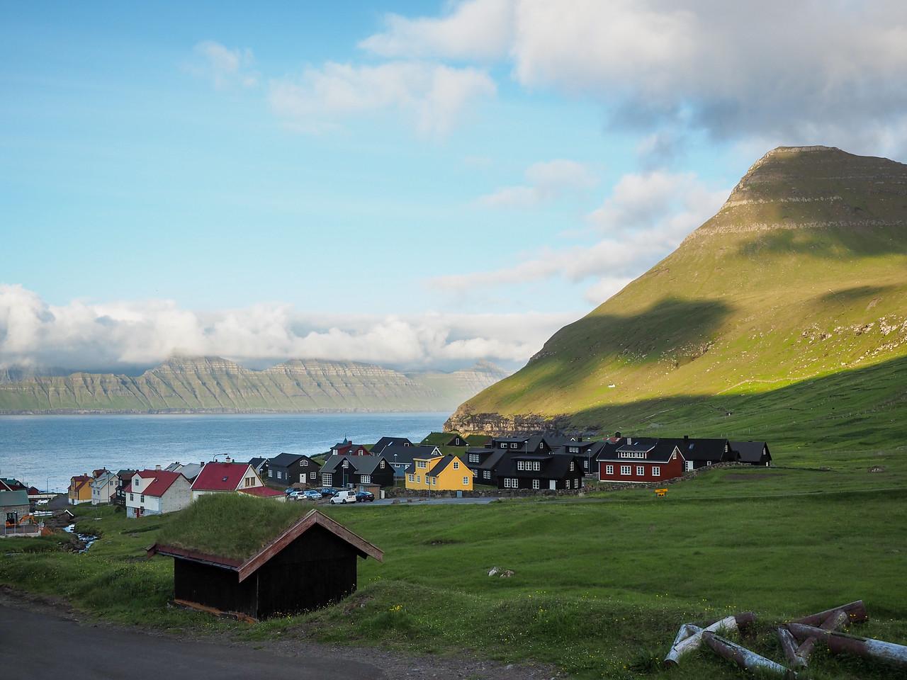 Village of Gjógv in the Faroe Islands