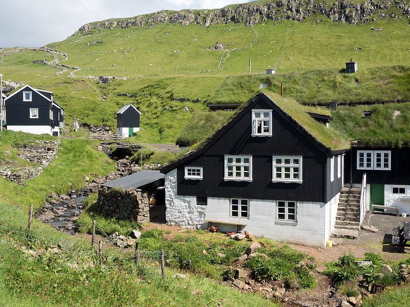 Houses in Mykines