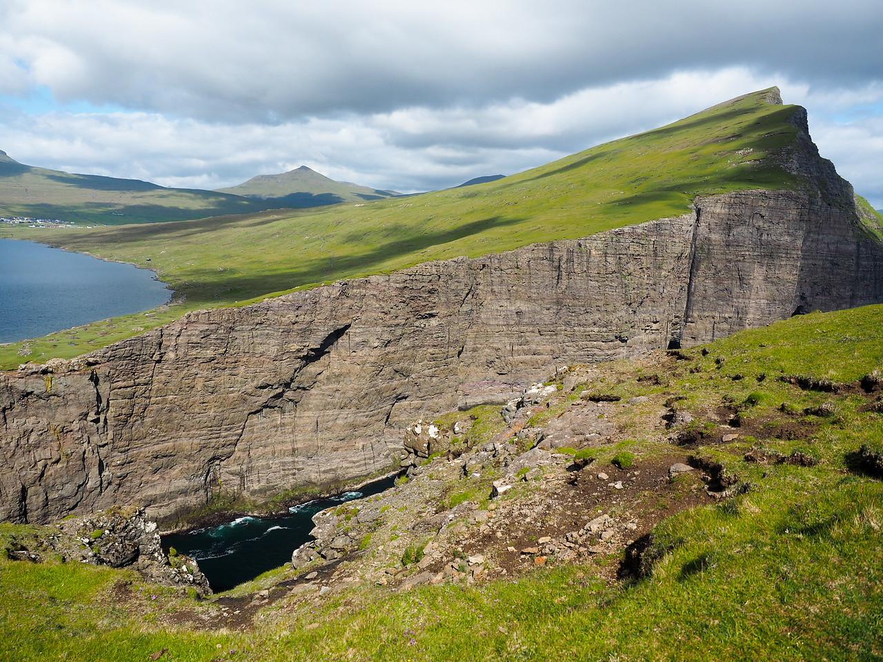 Trælanípa in the Faroe Islands