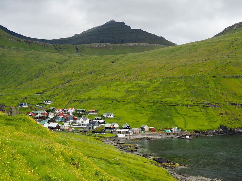 Village of Funningur in the Faroe Islands