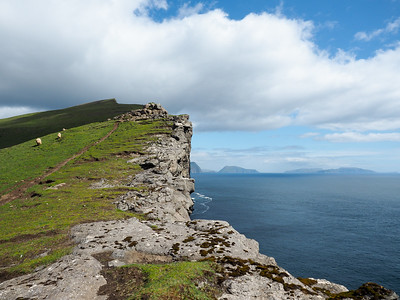 Trælanípa in the Faroe Islands