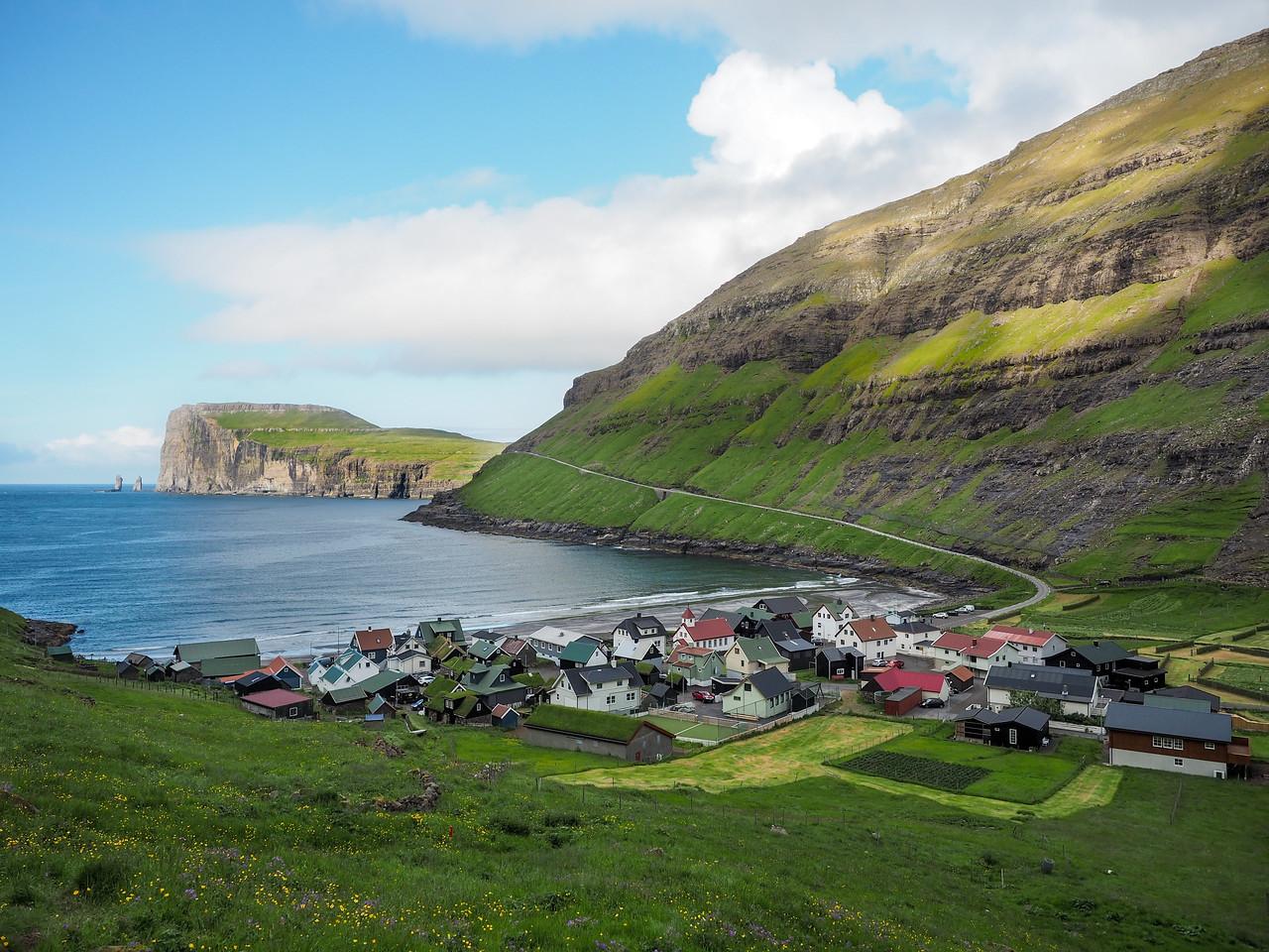 The village of Tjørnuvík in the Faroe Islands