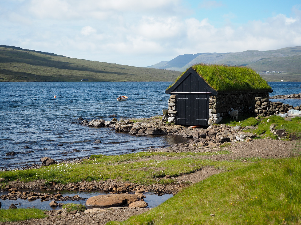 Sørvágsvatn, the largest lake in the Faroe Islands