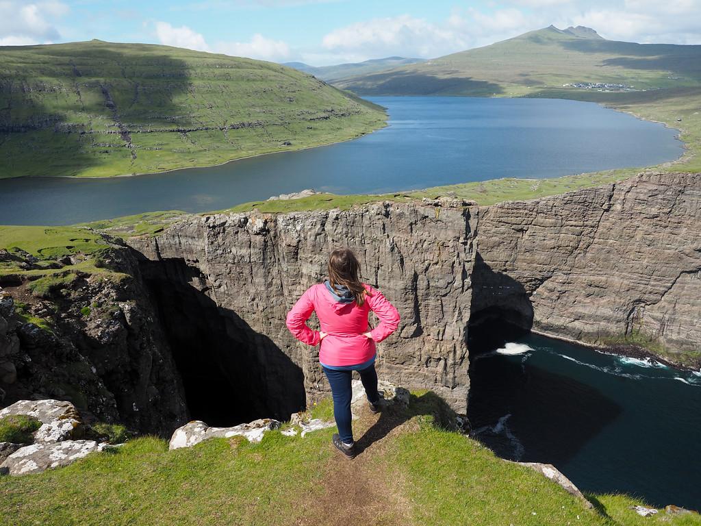 Lake Sørvágsvatn in the Faroe Islands