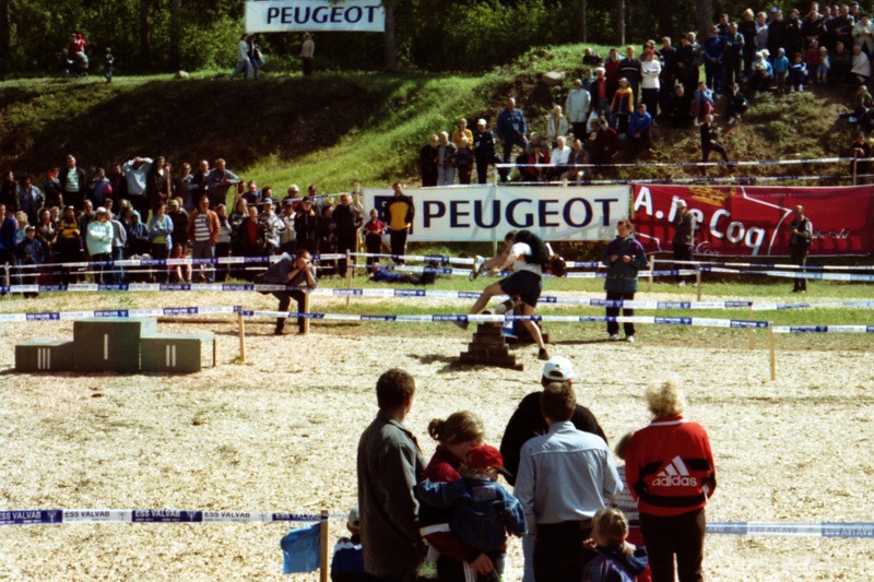 Contestants of the Wife-Carrying Competition - Estonia