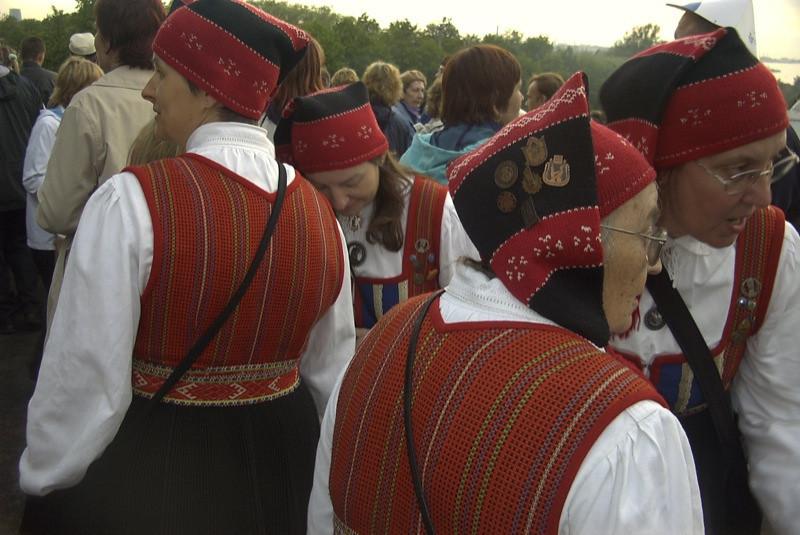 Women at Song and Dance Festival - Tallinn, Estonia