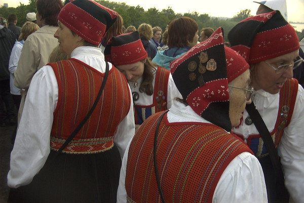 Women at Song and Dance Festival - Tallinn, Estonia