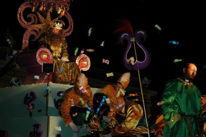 Men at Festival of Three Kings - Cadiz, Spain