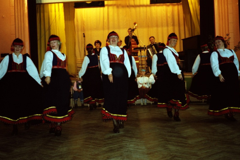 Dancing at a Village Folk Festival - Marjamaa, Estonia