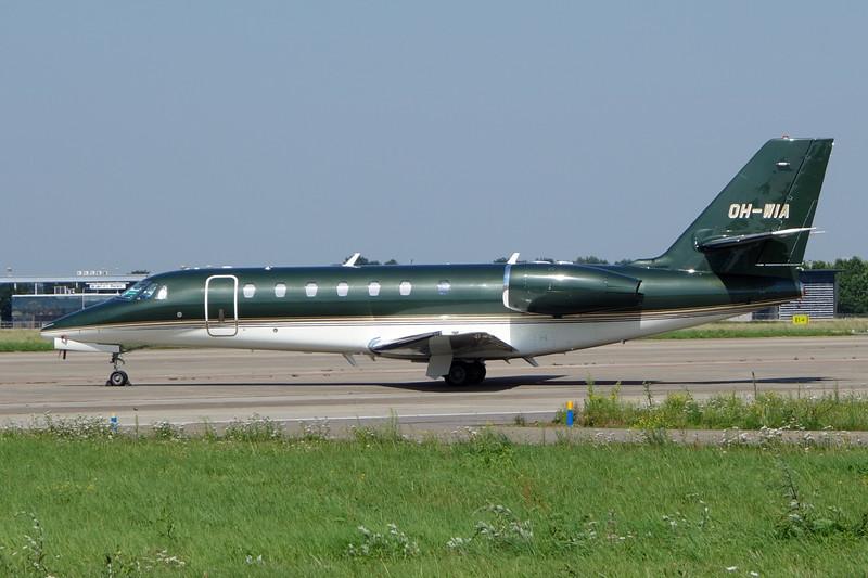 OH-WIA Cessna 680 Citation Sovereign c/n 680-0215 Maastricht/EHBK/MST 23-08-15