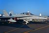 "HN-465 McDonnell-Douglas F/A-18D Hornet ""Finnish Air Force"" c/n FNF-05 Fairford/EGVA/FFD 25-07-99 (35mm slide)"
