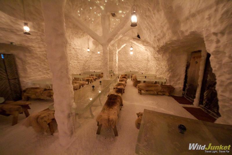 Snowland - a snow restaurant in Rovaniemi