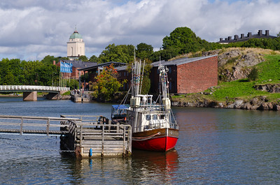 Harbor and chyrch/lighthouse, Fortress of Suomenlinna, Helsinki, Finland