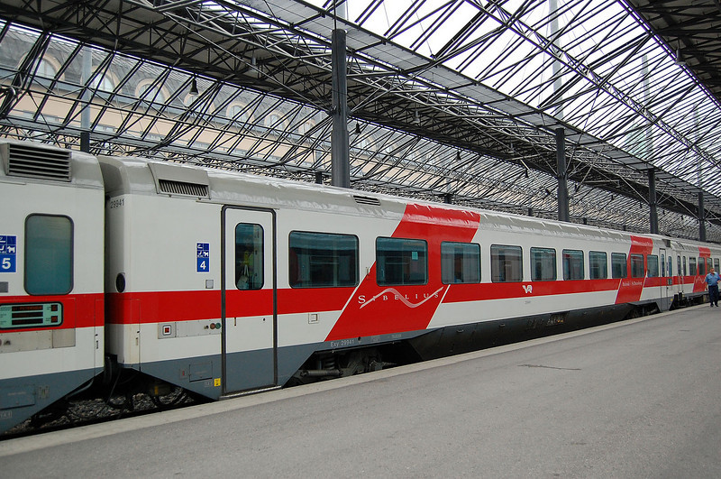 2nd class car 29941 of the Helsinki-St Petersburg 'Sibelius' train.
