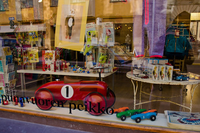 Toys in the window, Helsinki, Finland