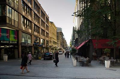 Street scene (notice the MacDonald's on the left), Helsinki, Finland