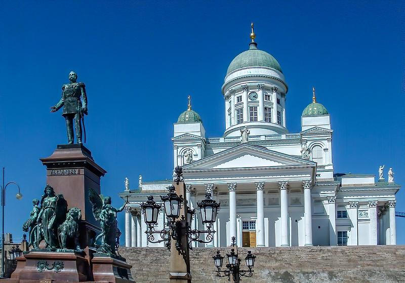 Helsinki Cathedral - Alexander II Statue
