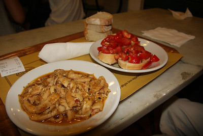 Tripe and bruschetta!