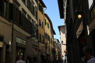 Typical street in Florence (Firenze)