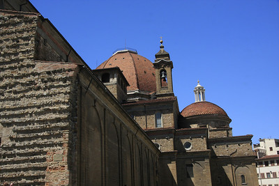 Basilica di San Lorenzo with its dome and bell tower