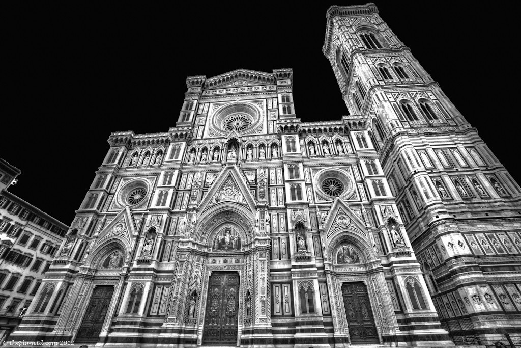 The Florence Duomo in Black and white