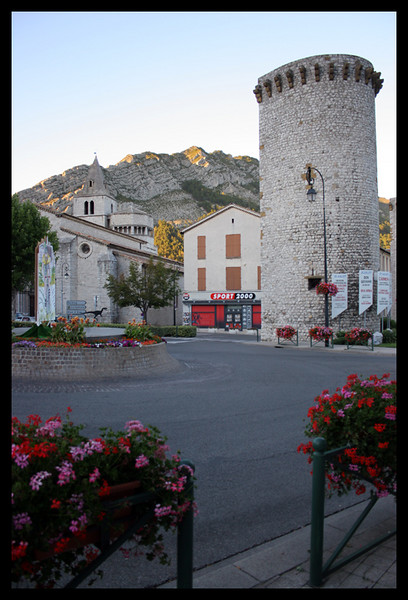We stopped in a really nice town along the way called Sisteron, besides La Palud I think this was my favorite town of the trip. They had some really neat town features as well as geological features.