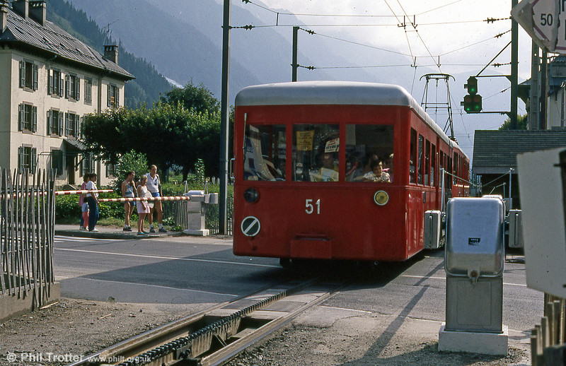 CFCM trailer no. 51 at Chamonix in August 1988.