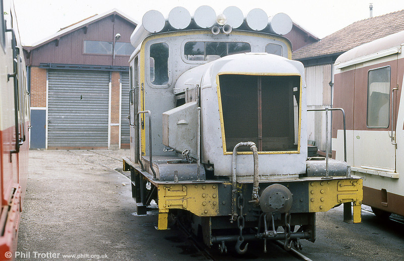 The SNCF owned Chemin de fer du Blanc - Argent is a metre gauge line which operates a passenger service between Salbris and Lucay le Male. Loco 11, built in 1952 on the frames of a steam locomotive, originated with the CFD Reseau de Yonne. August 1988.
