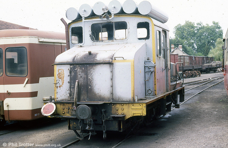 A second view of the somewhat ungainly loco no.11 at Romorantin depot. August 1988.