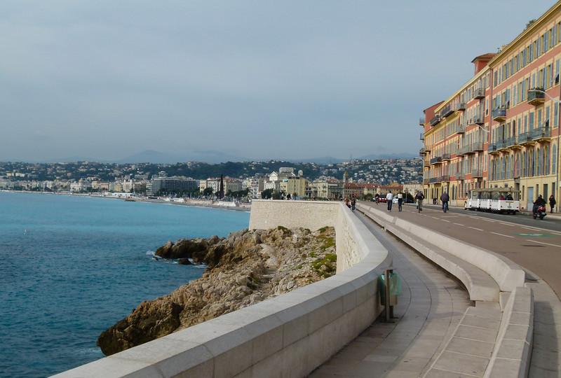 Walking on the promenade in Nice, France