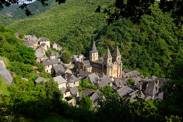 Conques in early evening light