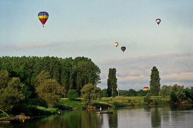 Hot Air Balloon competition near Chalon sur Saone, in the southern Burgundy region