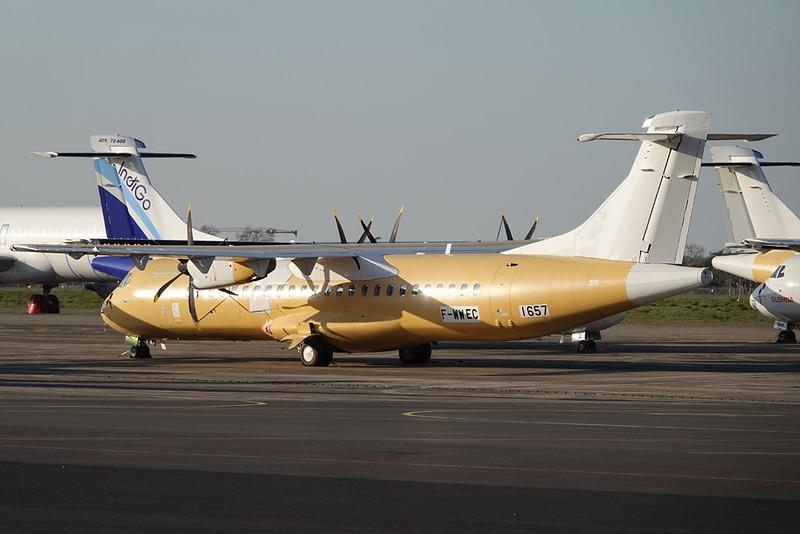 """F-WWEC Aerospatiale ATR-72-600 """"ATR"""" c/n 1657 Toulouse-Francazal/LFBF 27-02-21"""
