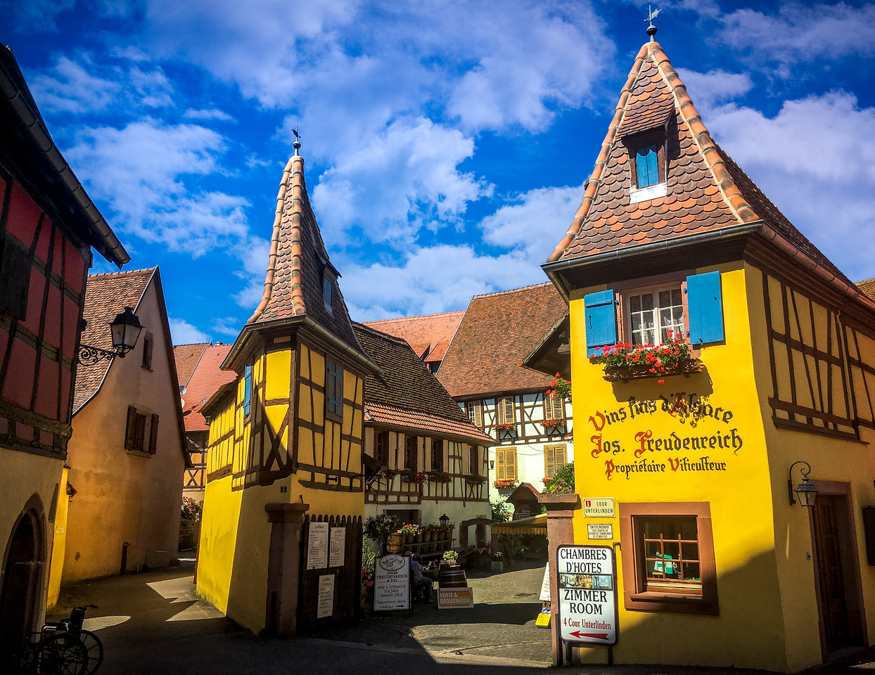 Picturesque colorful Eguisheim. Shot with my iPhone.
