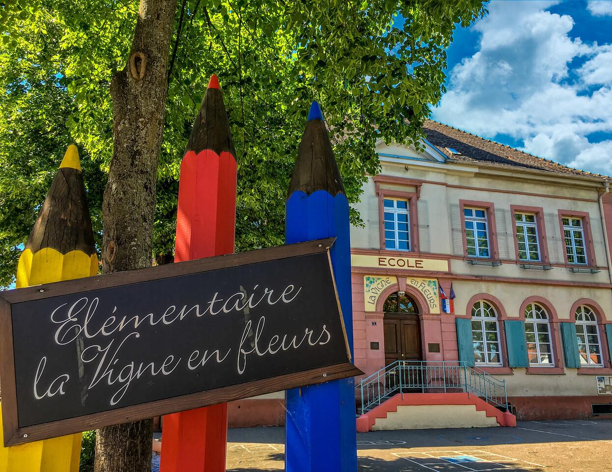 Even the School of Eguisheim is picturesque!