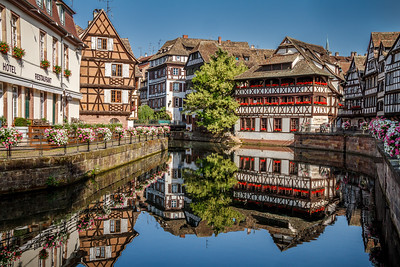 Fantastic reflection at the picturesque Petite France.