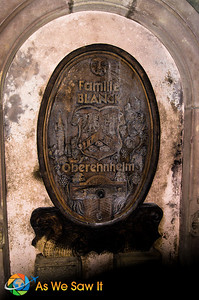 Extremely old original wine barrel of the Blanck family winery still running today.