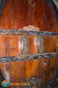another barrel exhibiting detailed carvings