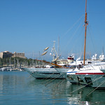 Harbor and Fort – Antibes, France – Photo