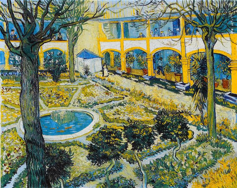 The Courtyard of the Hospital at Arles - Van Gogh (1889)