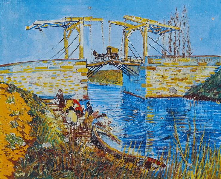 Langlois Bridge with Washerwomen - Van Gogh