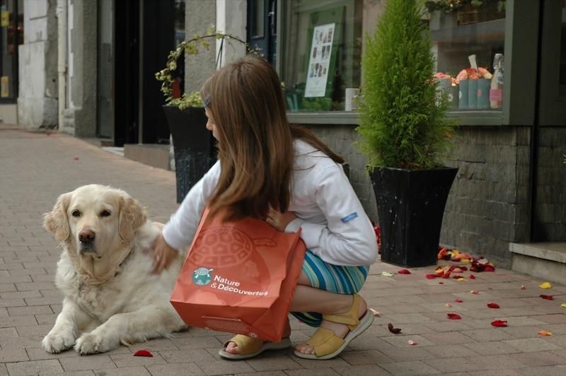 A Girl and A Dog - Pau, France