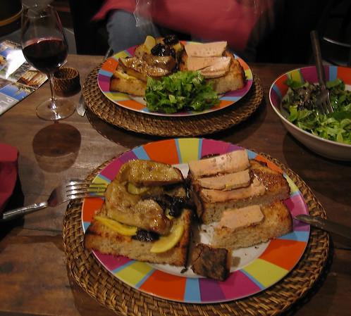 Foie gras duo in Saint-Émilion