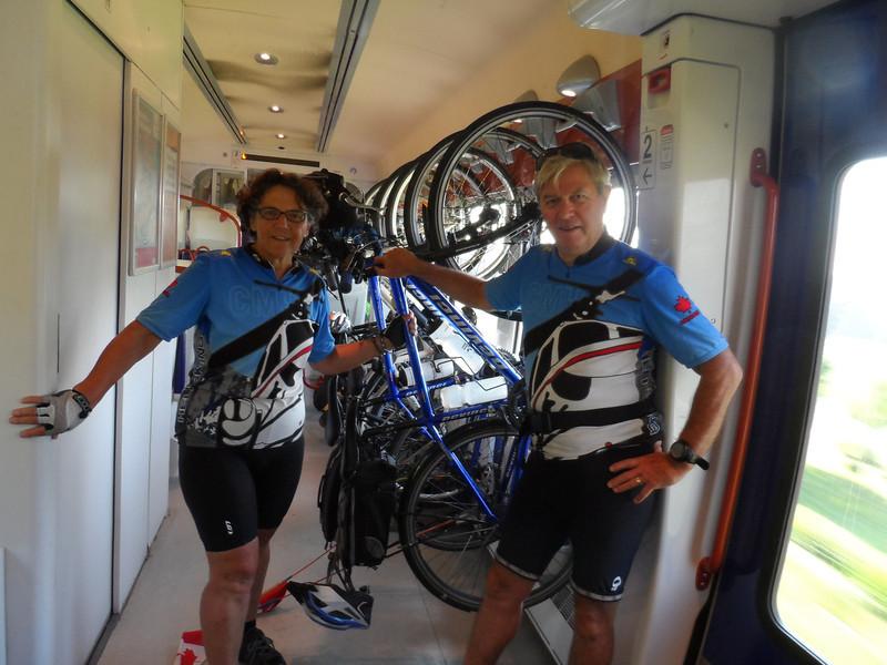 velos on the train
