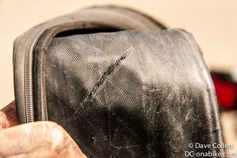 Split tire. :-(