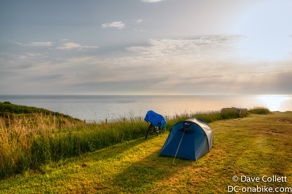 Campsite at Omaha Beach