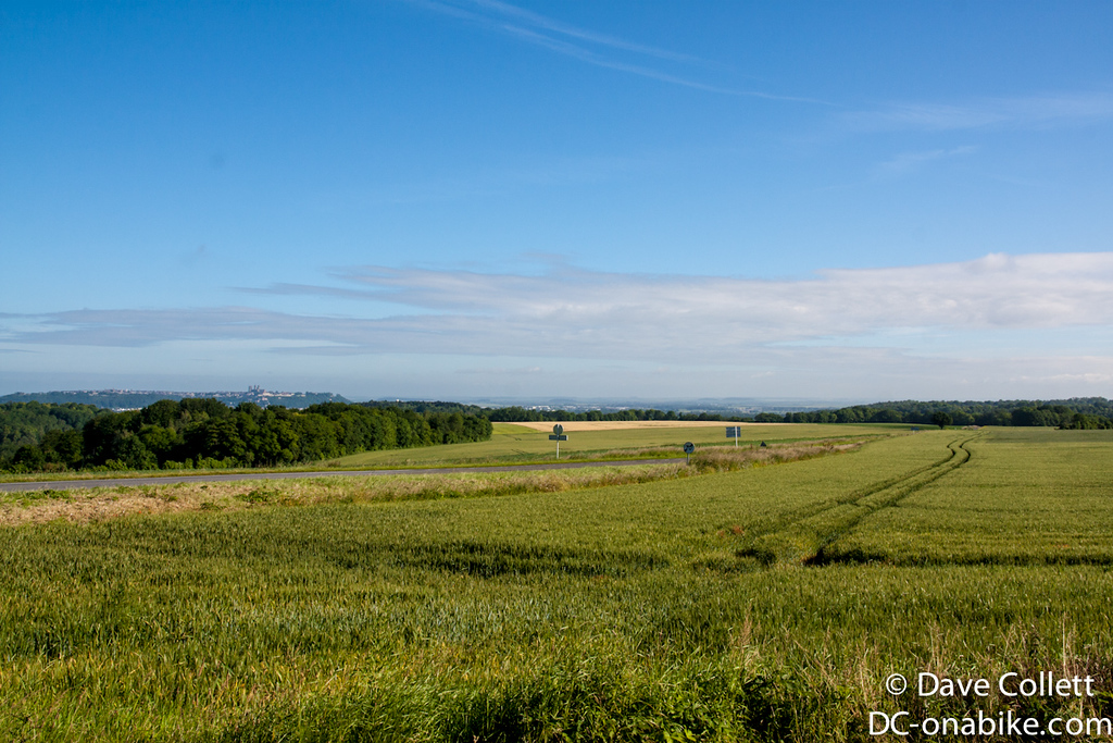 Looking back towards Laon