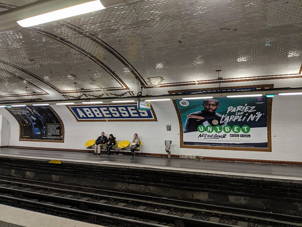 Abbesses was the closest station to the hotel.