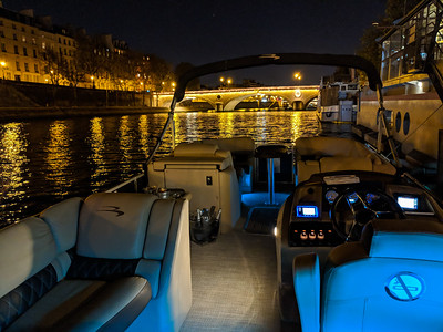Seine night cruise views - on a private boat. So quiet!